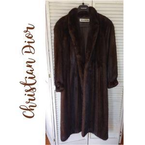 Vintage Christian Dior Mink Coat